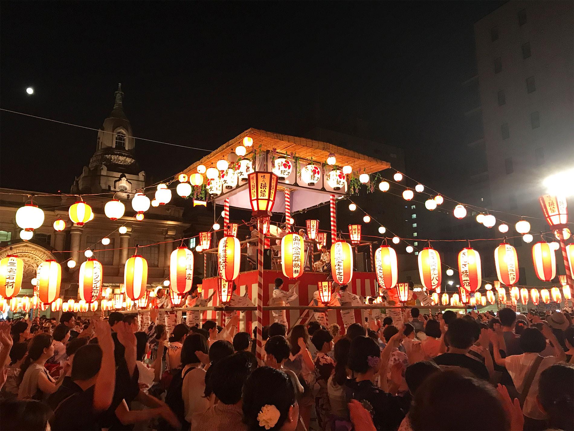 築地本願寺 納涼盆踊り 2017 と、渋谷盆踊りへ寄り道